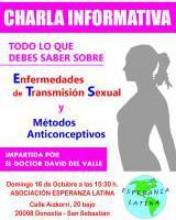 CHARLA INFORMATIVA: Enfermedades de transmisión sexual y métodos anticonceptivos