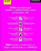 HAURTZAROAREN OSASUN ETA PREBENTZIO ASTEA / Semana de la salud y la prevención para la infancia