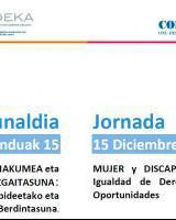 Jardunaldia - MUJER y DISCAPACIDAD / EMAKUME eta EZGAITASUNA