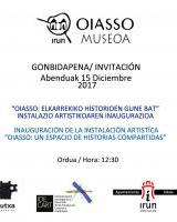Erakusketa: Oiasso, partekatutako istorioen gunea / Oiasso, espacio de historias compartidas