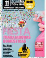 """SOS Racismo Gipuzkoa """"Trabajadoras domésticas"""" festa"""