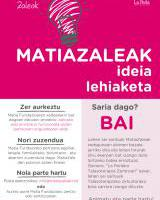 I. Concurso de Ideas MatiaZaleak / MatiaZaleak I. Ideia lehiaketa