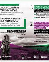 Derechos humanos, defensa de la tierra y feminismos / Giza eskubideak, lurraren babesa eta feminismo