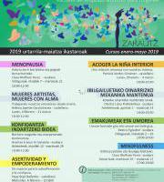 2019 urtarrila-maiatza ikastaroak / Cursos enero-mayo 2019