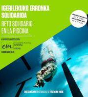 Igerilekuko erronka solidarioa / Reto solidario en la piscina - Anima zaitezte!!