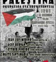 Hitzaldia: PALESTINA, OCUPACIÓN Y RESISTENCIA