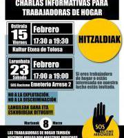 Etxe-langileentzako Hitzaldiak / Charlas informativas para trabajadoras de hogar