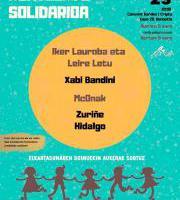 Kontzertu solidarioa - Iker Lauroba Leire Letu Xabi Bandini, McOnak, eta Zuri Zuriñe