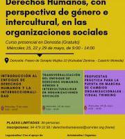 """Curso presencial """"Inclusión del enfoque de Derechos Humanos en organizaciones sociales"""""""