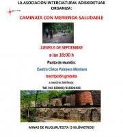 Merienda osasungarria / Caminata con merienda saludable