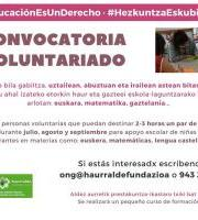 Haurralde Fundazioa: Buscamos voluntarios/as - Boluntarioak bilatzen ditugu