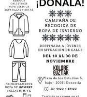 Neguko arropa biltzeko kanpaina - Campaña de recogida de ropa de invierno