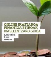 Online Ikastaroa: Finantza etikoak