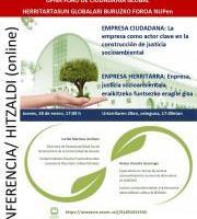 Hitzaldia - Empresa ciudadana / Enpresa herritarra.