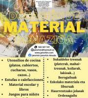 """""""Material donazioa"""" - Jatorkin Al-Nahda."""