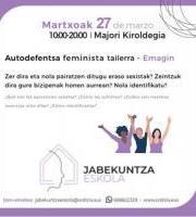 Autodefentsa feminista tailerra