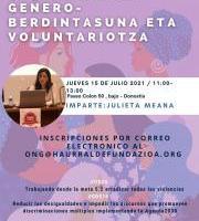 ODS5 Sendotuz: Genero - Berdintasuna eta Voluntariotza