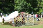 Construyendo la Yurta en Lizarrusti