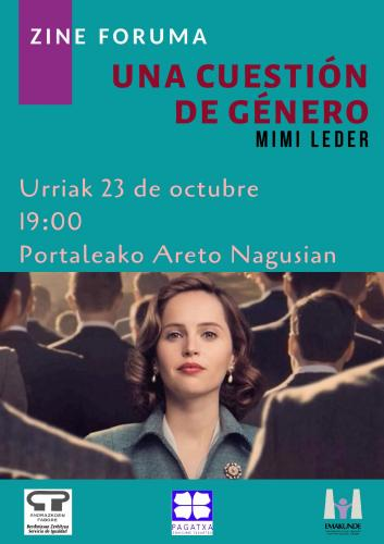Cartel Una cuestión de género octobre 2020