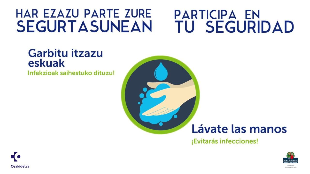 Lávate las manos en un momento /Garbitu eskuak momentu batean