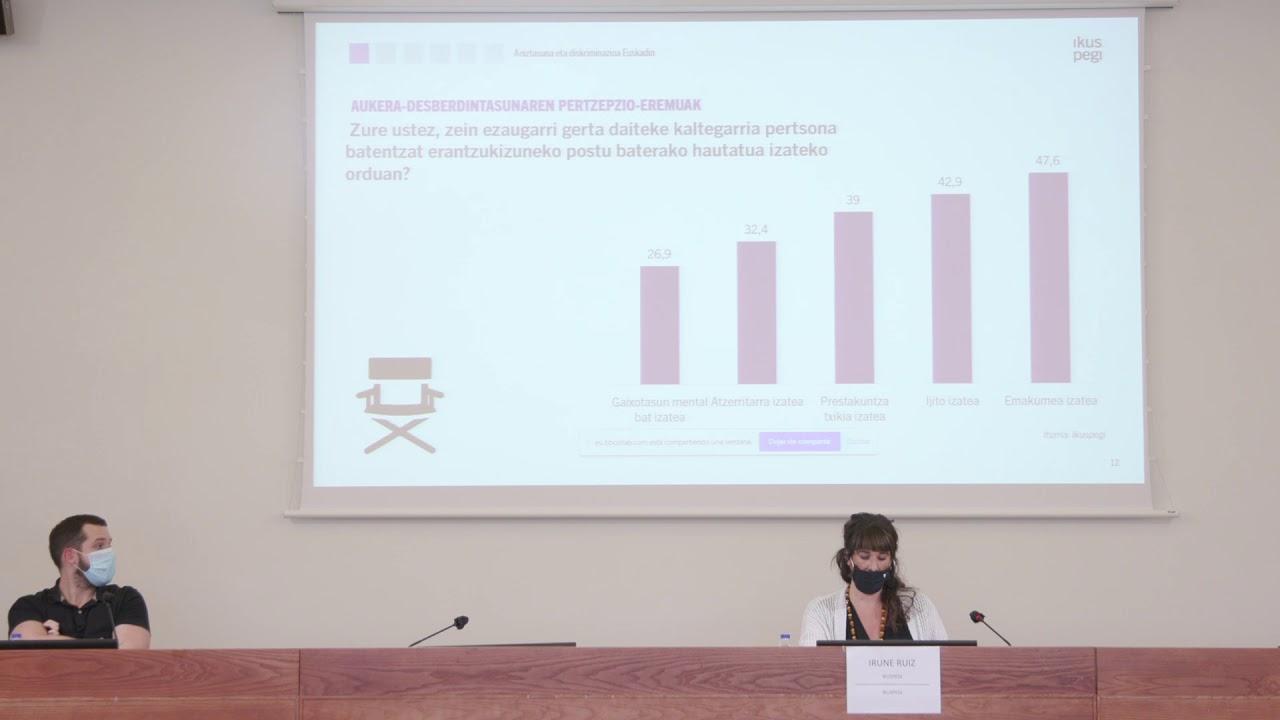 Irune Ruiz: Aniztasuna eta diskriminazioa Euskadin: pertzepzioak eta jarrerak