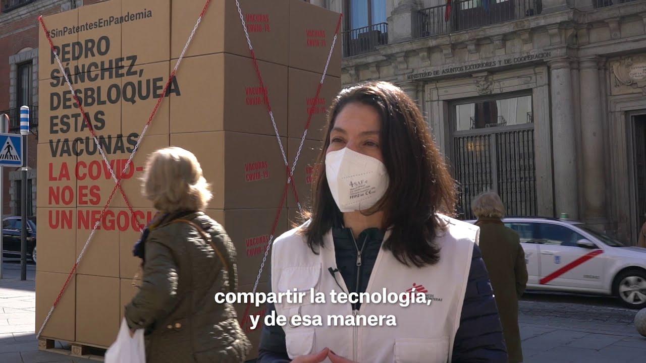 Acción en Madrid: decimos NO a las patentes de la COVID-19