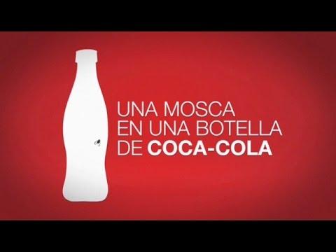 Una mosca en una botella de Coca-Cola