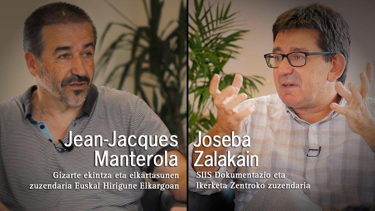 Eusko Ikaskuntzako Solasaldiak: Jean Jacques Manterola / Joseba Zalakain