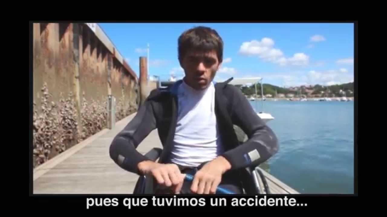 El desafío de Mikel: bucear en silla de ruedas